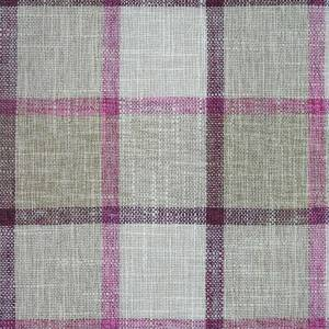 scatter cushion beige with pink check pattern