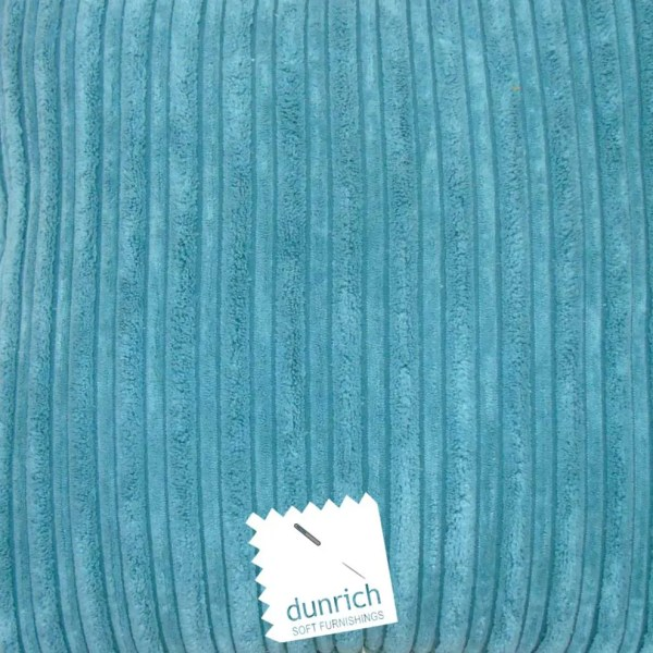 teal blue chunky cord cut fabric to order