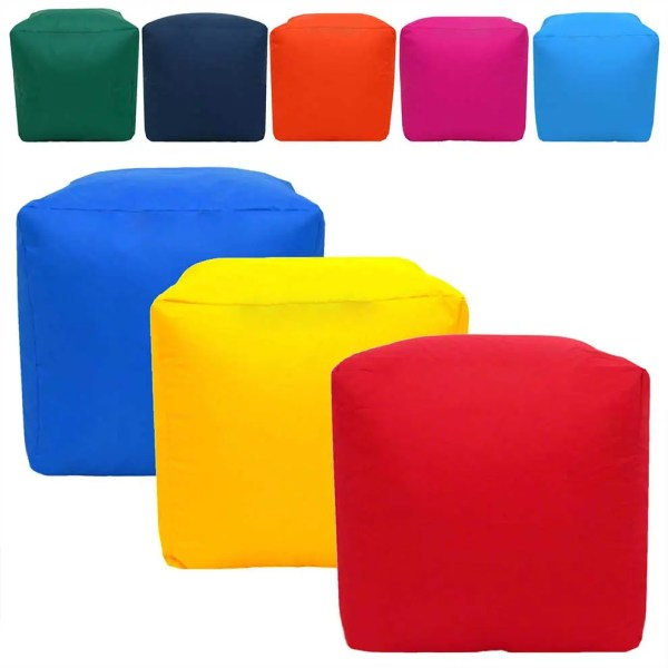 water resistant cube footstool pouffes