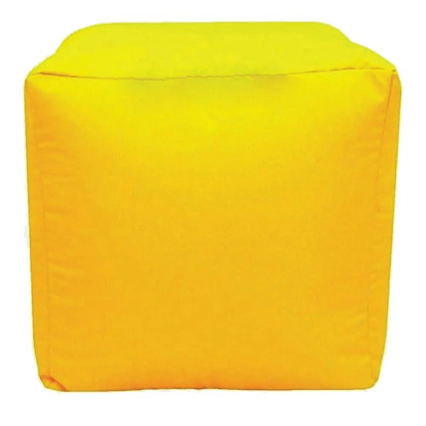 yellow water resistant cubes footstools