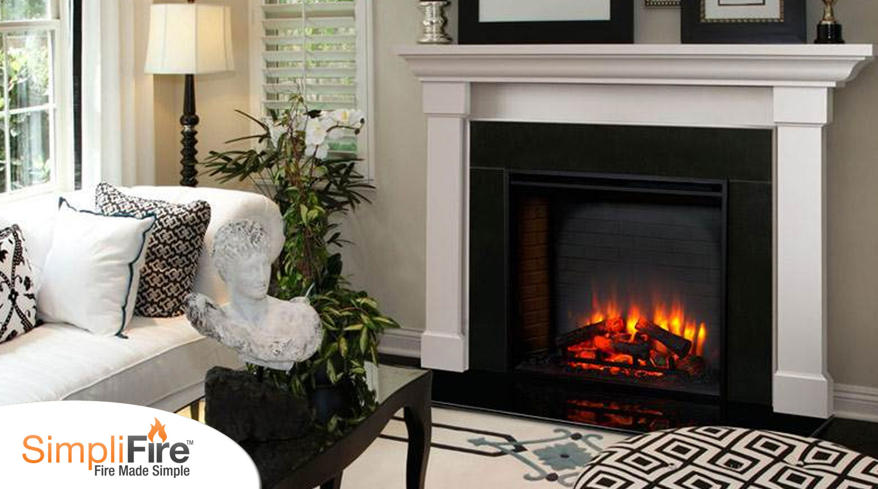 SimpliFire Built In Electric Fireplace