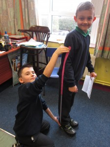 measuring using metre strips