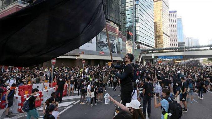 Hong Kong'u kısıtlama projesine tepki çağrısı yapıldı