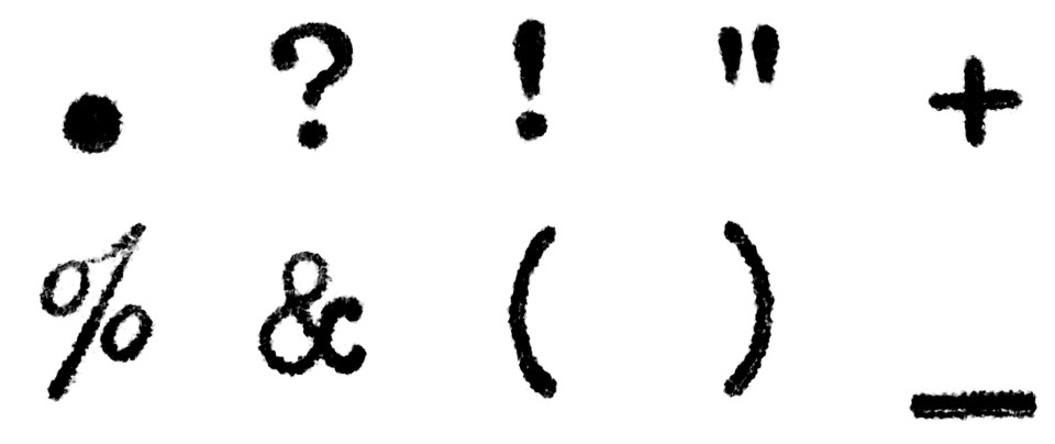 Punctuation marks in Courier font