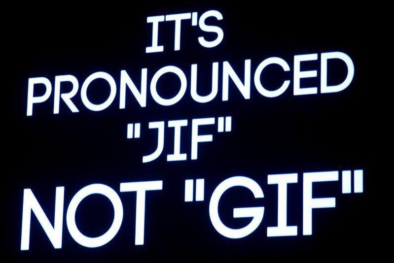 GIF diye yazılır 'Jif' diye okunur.