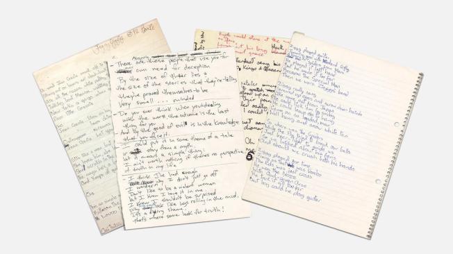 David Bowie'ye ait notlar ve mektuplar