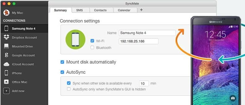 samsung note 4 sync with mac sidesync alternative