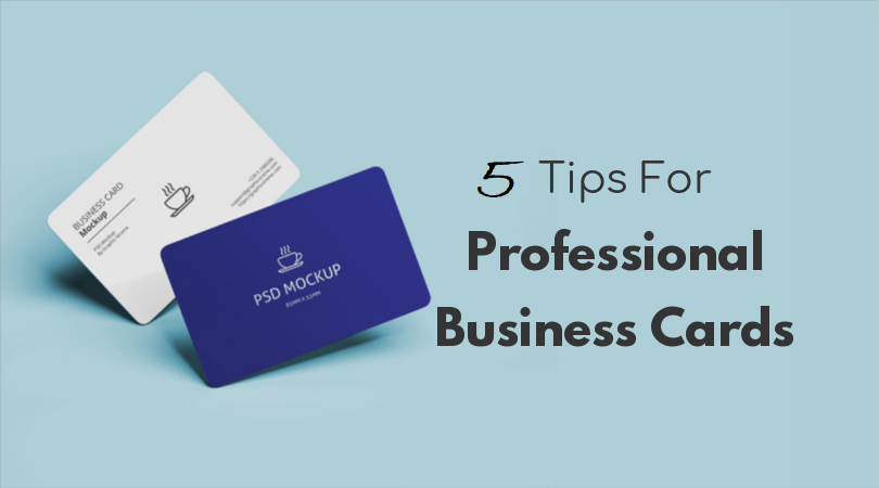 5 tips for creating business card