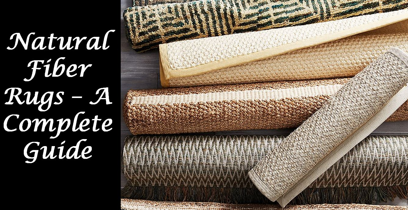 natural fiber rugs infographic