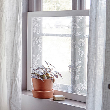 Window Screens Lace Covered