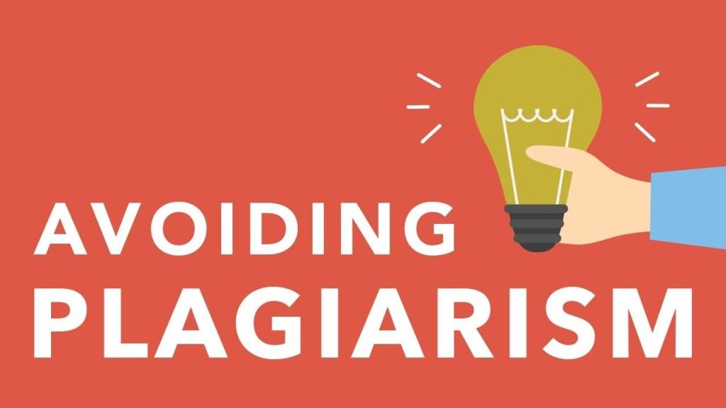 avoid plagiarism for success