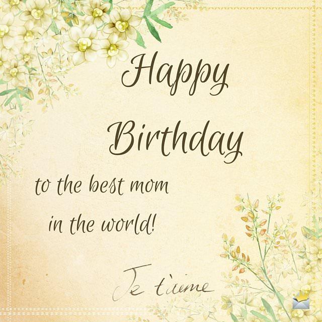 birthday wishes mom