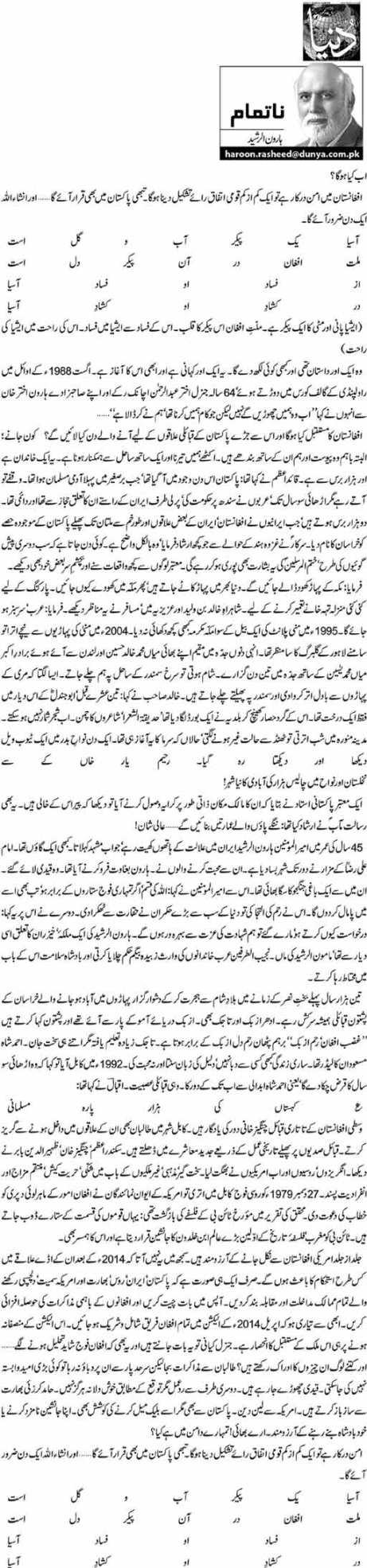 Ab Kya Hoga ? - Haroon Ur Rasheed