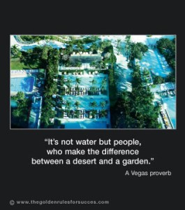 It's not water but people