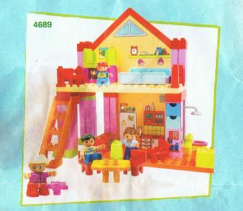 oranje huis met achtergrond platen