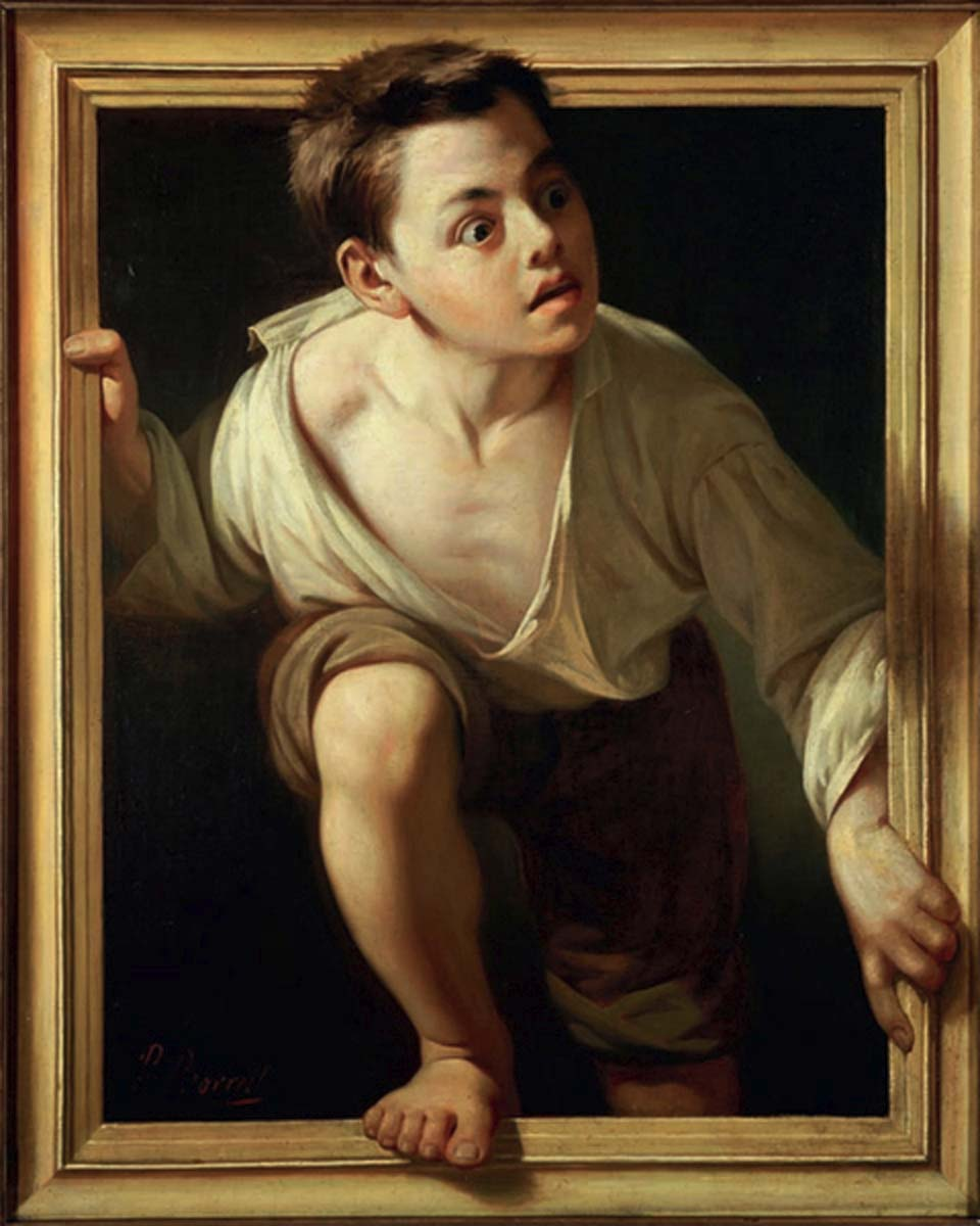 "Optical Illusion in Fine Art - A Victorian Trompe-l'œil Example ""Escapting Criticism"" by Pere Borrell del Caso, 1874,"