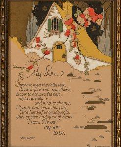 Volland Company Motto - My Son by Molly A. Haley - Circa 1920's