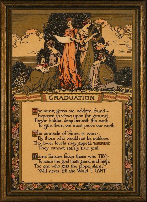 Buckbee Brehm Motto - Graduation - Circa 1920's