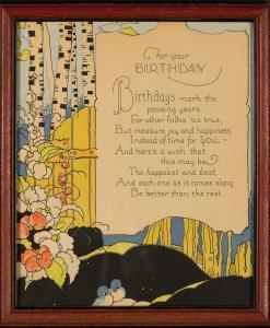 For your Birthday - Gift Motto circa 1930