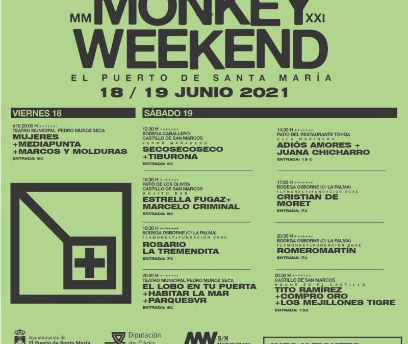El festival Monkey Weekend, 18 y 19 de junio de 2021