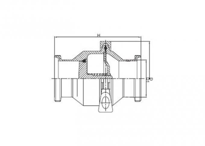 AISI 316L 304 Stainless Steel Sanitary Valves Male