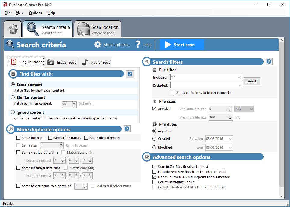 Main screenshot - Duplicate Cleaner