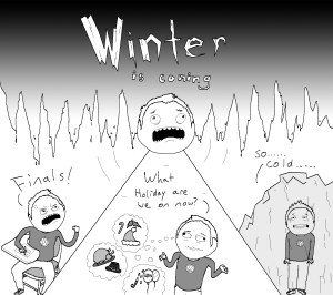 Opinions winter cartoon