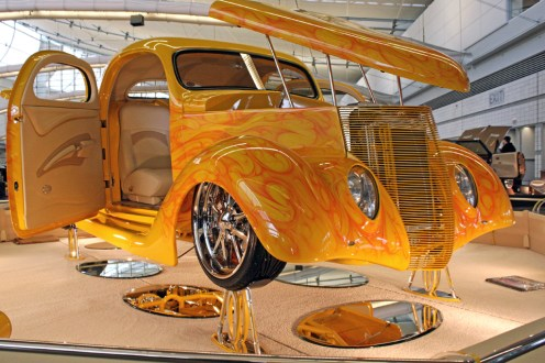 (Claire Murray / Asst. Photo Editor) custom painted1936 Ford Coupe from Long Island, N.Y.