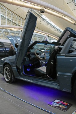 (Claire Murray / Asst. Photo Editor) A 1987 Ford Mustang with suicide doors from Pittsburgh