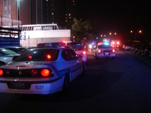 This archive photo from Sept. 17, 2006 shows Duquesne police responding to a shooting that injured five Duquesne basketball players.