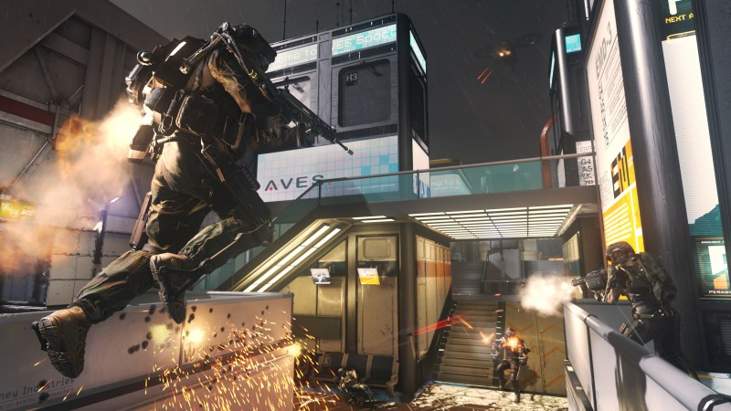 """This photo courtesy of Activision shows a scene from the video game, """"Call of Duty: Advanced Warfare."""" (AP Photo/Activision)"""