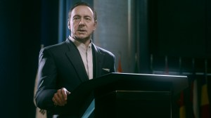 "This photo courtesy of Activision shows Kevin Spacey in a scene from the video game, ""Call of Duty: Advanced Warfare."" (AP Photo/Activision)"