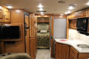 (Seth Culp-Ressler/Features Editor) The interior of an RV on display at the show.