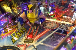 (Aaron Warnick/ The Duquesne Duke) A n X-Men pinball machine is one of many at Victory Pointe.