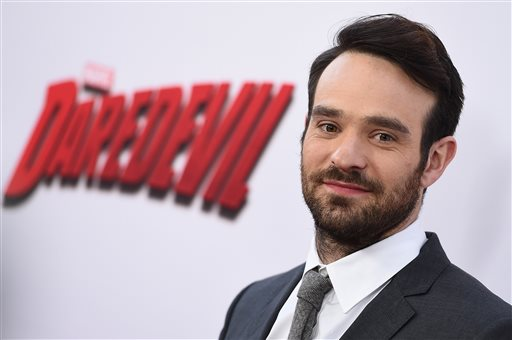 "Charlie Cox arrives at ""Marvel's Daredevil"" on April 2, 2015 in Los Angeles. (Photo by Jordan Strauss/Invision/AP)"