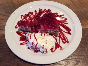 Photo by Lauren Zawatski | The Duquesne Duke. The Yard's peanut butter and jelly cheesecake is the perfect way to polish off a meal.