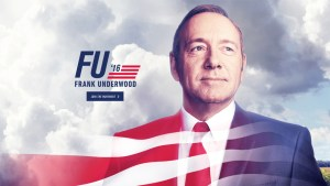 "Courtesy of Netflix ""House of Cards"" had its latest season advertised similar to election commercials. One such commercial even ran right after the second Republican debate."
