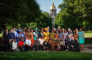 Courtesy of the University of Notre Dame. A group of fellows in the Young African Leaders Initiative poses for a picture at the University of Notre Dame. This summer, Duquesne University will host a similar group of young professionals from the African continent as they study civic leadership.