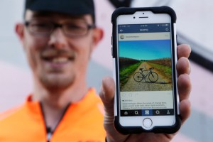 A bicycle on Instagram marks the travels of a user. In an age where social media seems to be entwined with every function of society, there are still those who prefer to watch from afar rather than make a contribution.