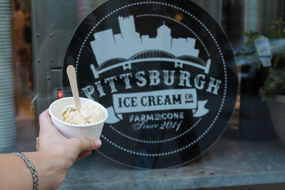 Photo by Kailey Love | Photo Editor. Pittsburgh Ice Cream Company is one of the best choices for those in search of more eclectic ice cream flavors suited to the seasons.