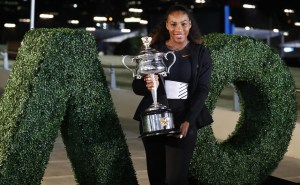 AP Photo United States' Serena Williams poses with her trophy after defeating her sister Venus to win the women's singles final at the Australian Open tennis championships in Melbourne, Australia, Sunday, Jan. 29, 2017.