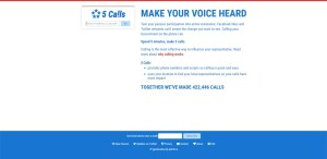Screenshot of www.5calls.org