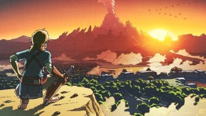 "Courtesy of Nintendo This promotional art mimics the same art used for the original ""The Legend of Zelda"" on the Nintendo Entertainment System. Both games are praised for their hands-off approach to gameplay."