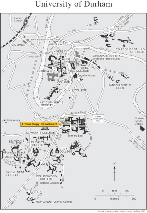 College University: Durham University College Map