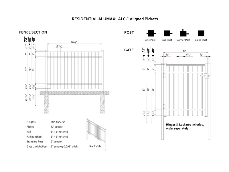 Residential Aligned Pickets