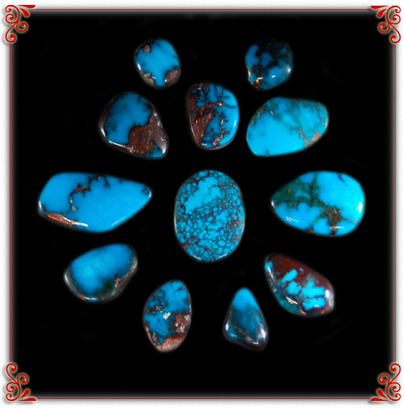 High Grade Turquoise Cabochons Durango Silver Company