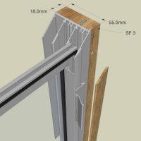 Secondary Glazing Luxury Subframe System  Hardwood