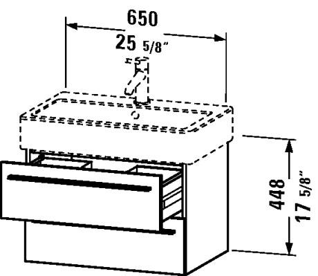 Duravit XL6342 X-Large 25-5/8 x 17-1/2 Vanity Unit Wall