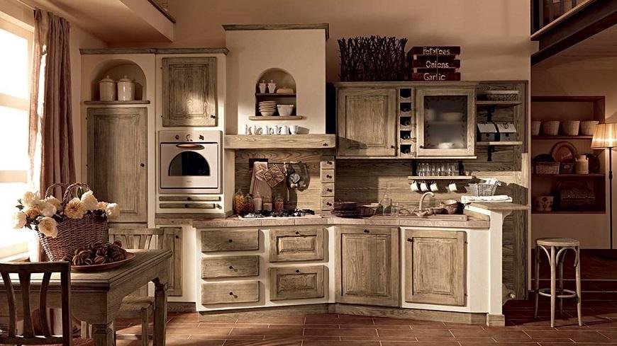 Cucina in muratura o finta muratura