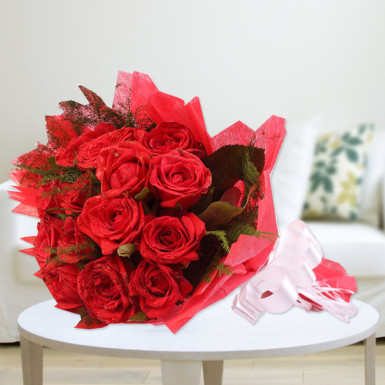 Perfect Rosy Red Roses Delivery Durgapur